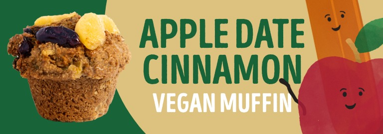 Apple Date Cinnamon Vegan Muffin