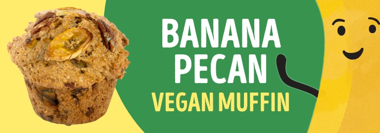 Banana Pecan Vegan Muffin