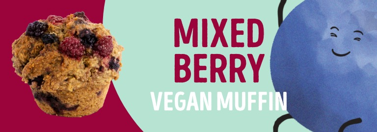 Mixed Berry Vegan Muffin
