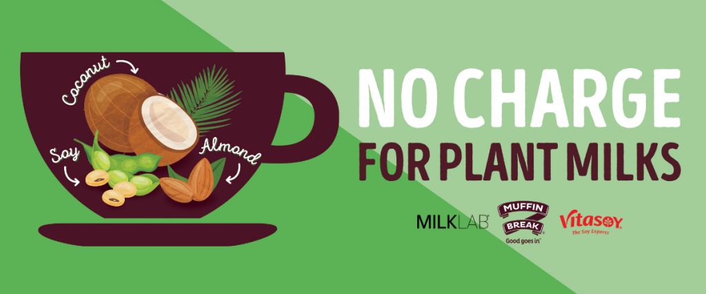 No Charge for Plant Based Milks - EVER!