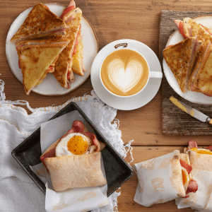 Breakfast Now available at Menulog