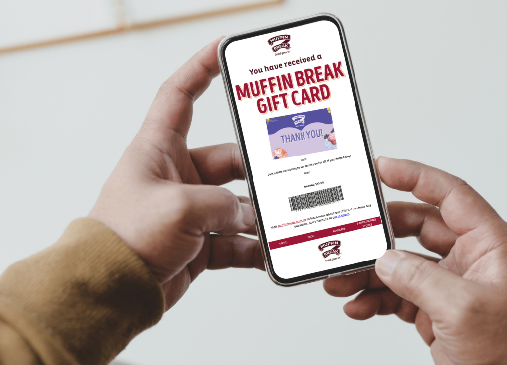 Corporate Gifting available at Muffin Break